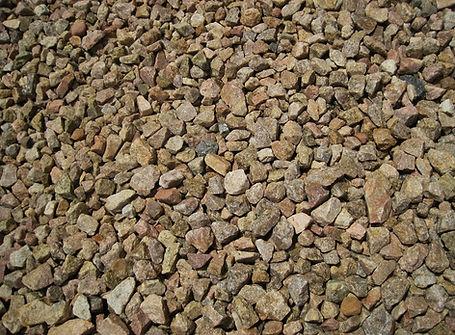 Instalación de piedra triturada