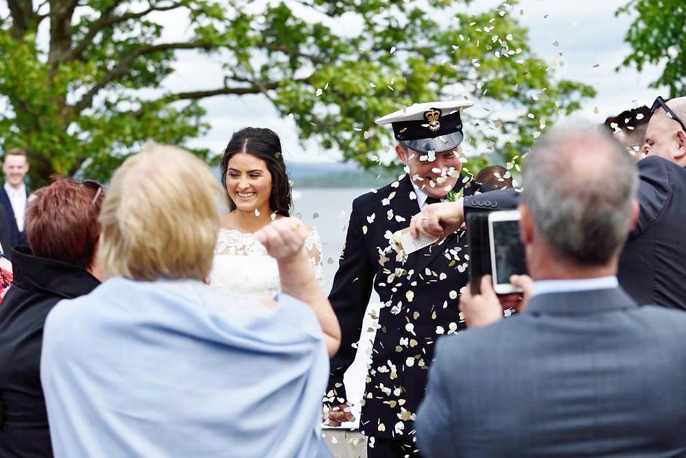 loch lomond wedding confetti