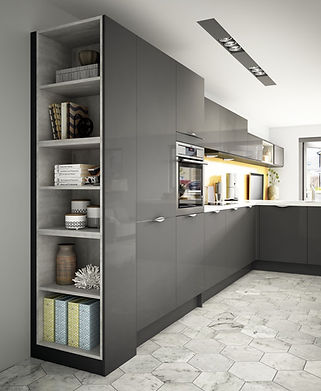 Inline Woodbury Gloss Anthracite with co