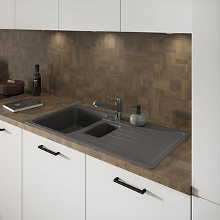 Urban Matt White Sink Unit Detail-medium