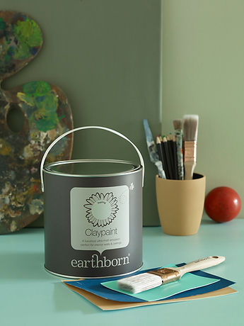 Earthborn Claypaint tin featuring Saplin