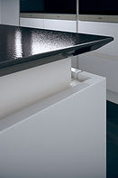 Linear Select Gloss Pure White Worktop T