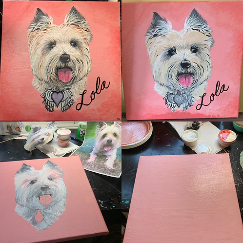 Hand Painted Fur baby