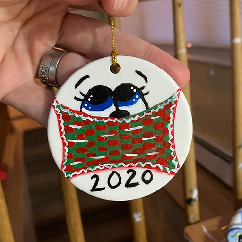 Hand Painted 2020 ornament