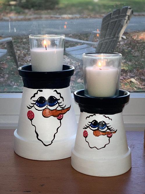 Snow Man Candle Holder