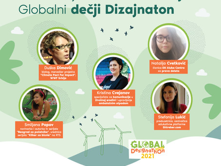 Globalni dečji DIZAJNATON, 23. januar u 10h - Onlajn predstavljanje radova
