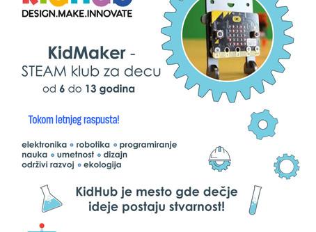 Otvoren upis za letnji KidMaker klub za decu od 6 do 13 godina