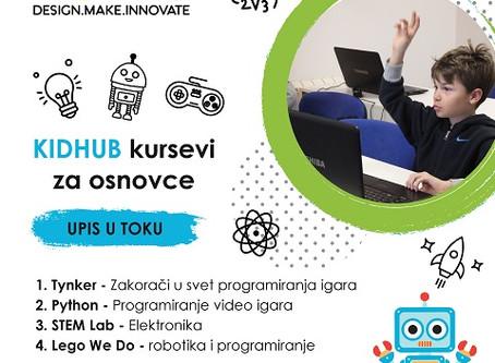 Otvoren upis na jesenje KidHub kurseve