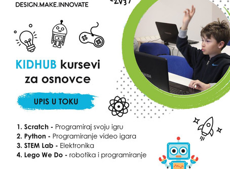 Otvoren upis za prolecne kurseve KidHub-a!