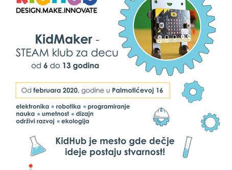 KidMaker STEAM klub za decu od 6 do 13 godina