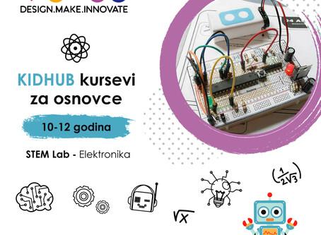 Otvoren upis za osnovce -  kurs elektronike STEM lab