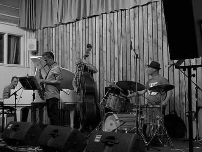 Ross Stanley, Stephen Main, Dave Whitford, Gary Willcox, Swanage Jazz Fest 2018