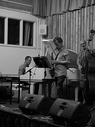Ross Stanley, Stephen Main, Dave Whitford, Swanage Jazz Fest 2018
