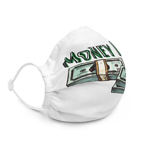 Money Line Universal Face Mask White