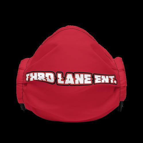 Thrd Lane Face Mask - Red