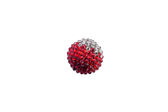 кулон красный сваровски стразы кристаллы