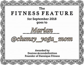 """My """"Fitness Feature"""" for September 2018"""