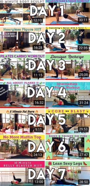 Post Holiday Slim Down | 1 Week Pilates Challenge