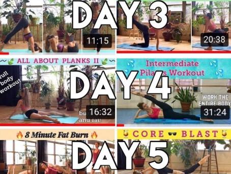Post Holiday Slim Down   1 Week Pilates Challenge