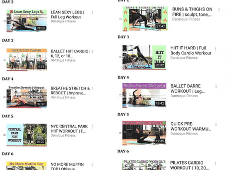 Dansique Fitness 4 Week Challenge!