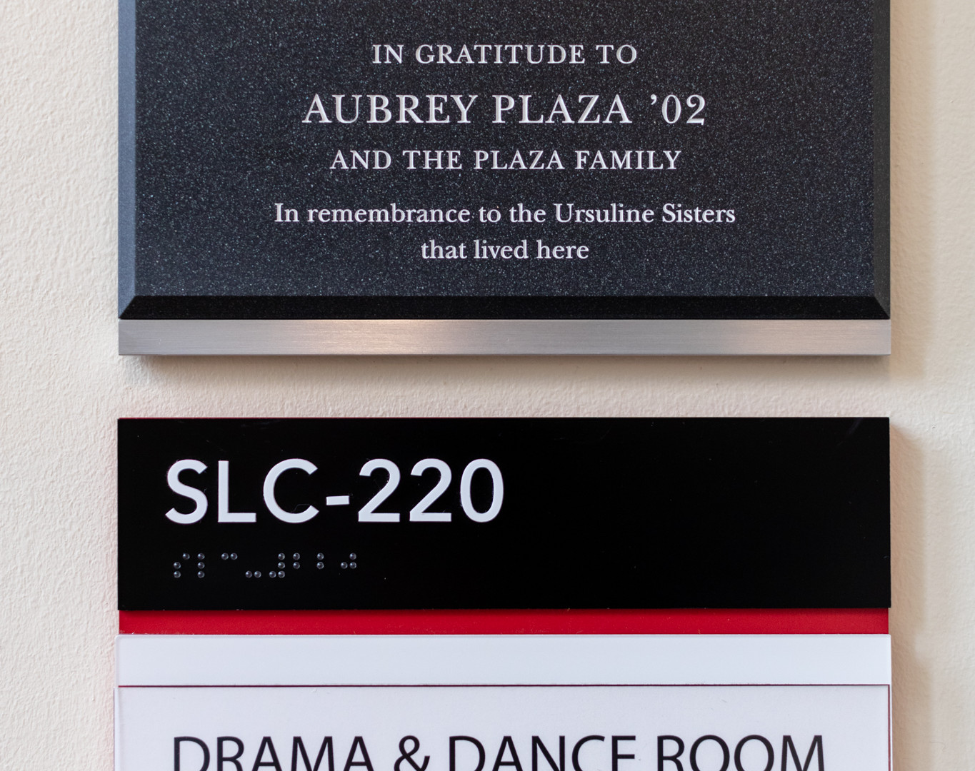 Plaque and ADA Signage