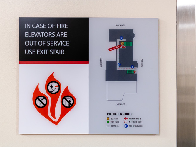 Map and Emergency Signage