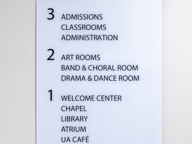 Directional Interior Signage