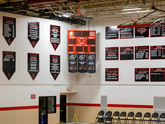 Custom Gymnasium Flags and Signage