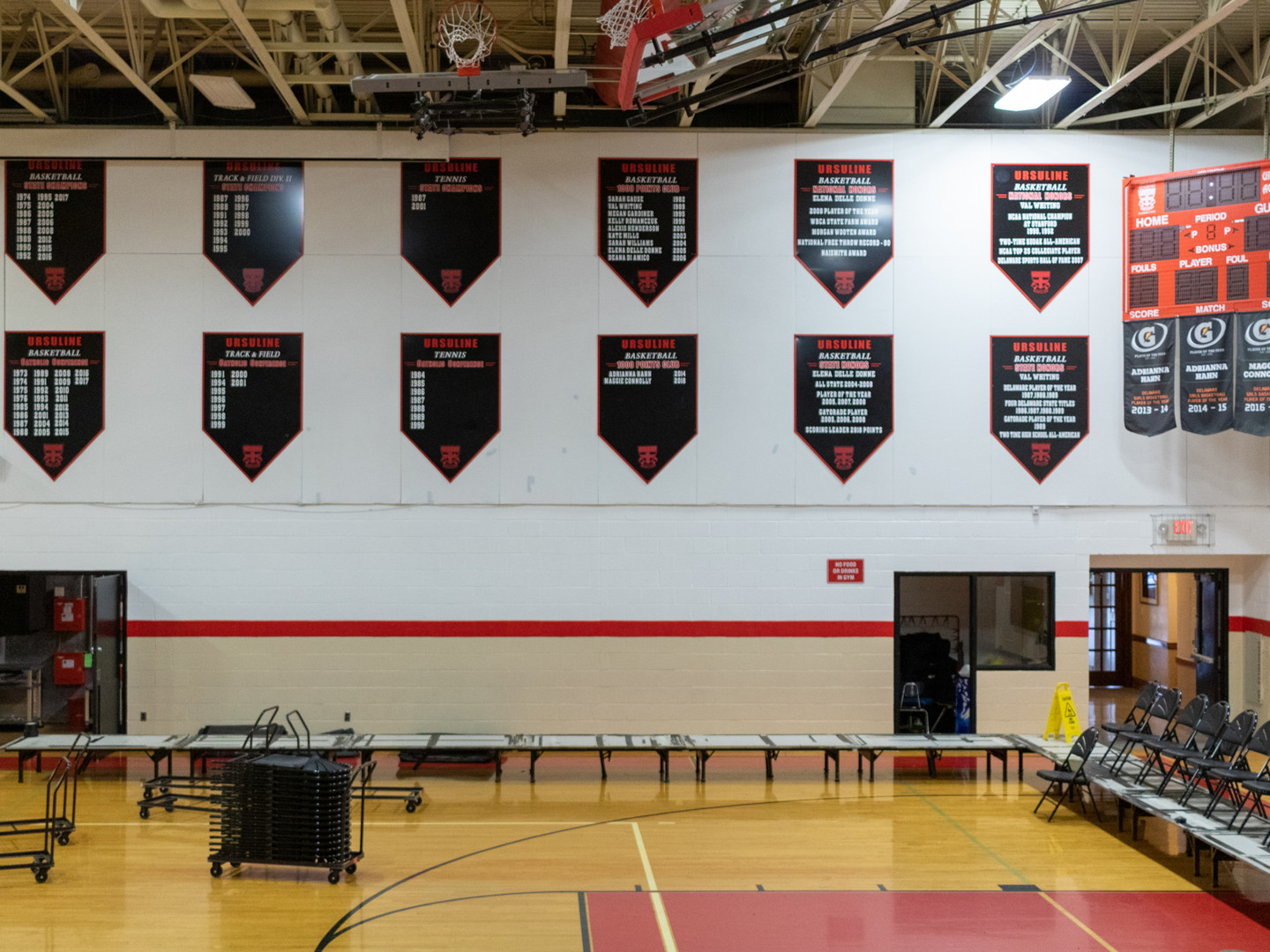 Custom Gymnasium Flags and Signage