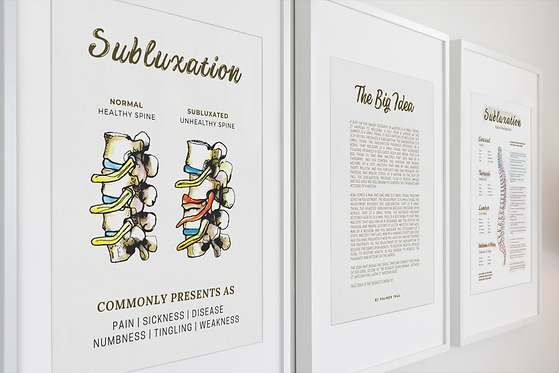 chiropractic subluxation poster and nerv