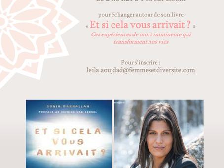 Le BOOKCLUB Femmes et diversité reçoit Sonia Barkallah