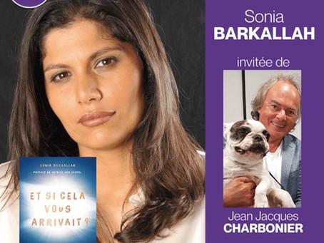 """Jean-Jacques Charbonier reçoit Sonia Barkallah dans son émission """"Bienvenue chez moi"""""""