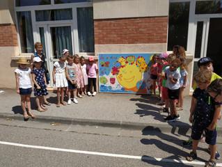 Fresques avec les élèves de l'école de Sainte Tulle