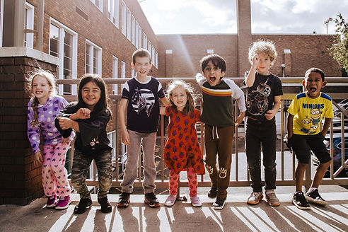 Children outside of Gladish