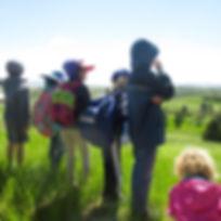Children on outdoor field trip