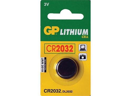 GP 2032 Batteri 3V 1 stk, ø20mmx3,2mm, Lithium