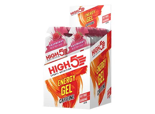 High5 EnergyGel Koffein Bringebær