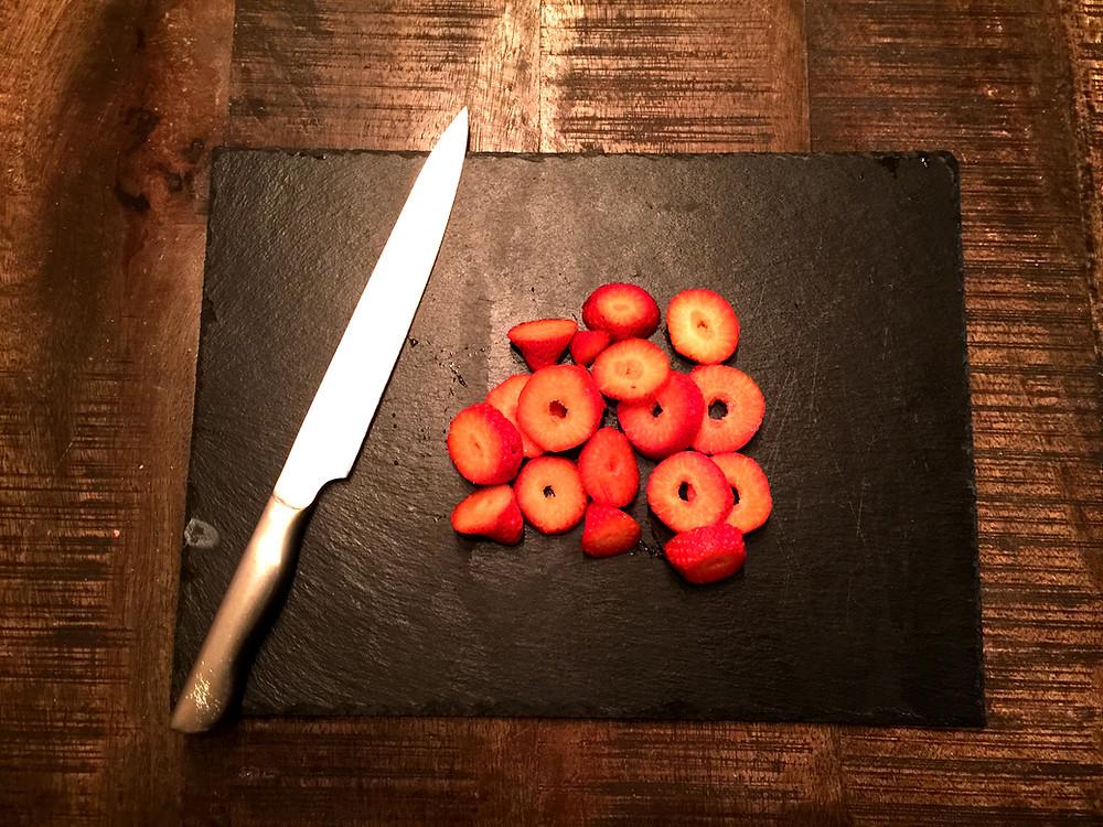 Fresas cortadas