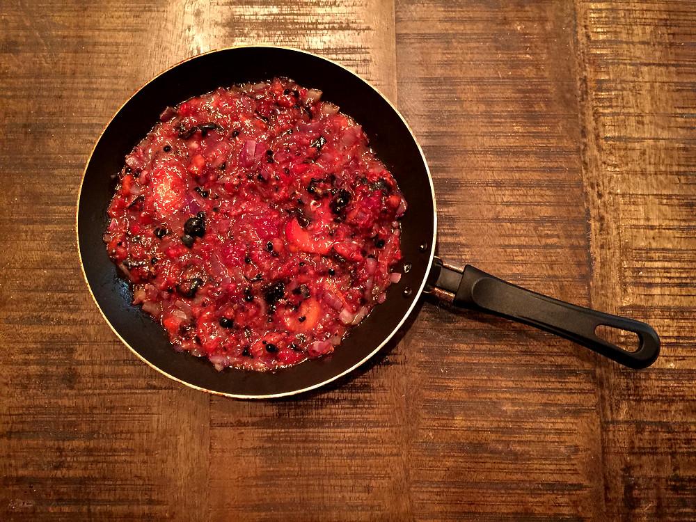 Salsa de frutos rojos