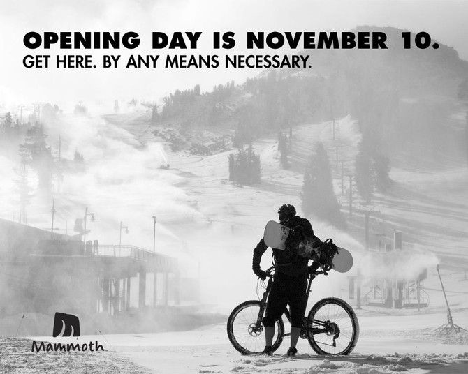 Opening Day campaign for Mammoth Mountain