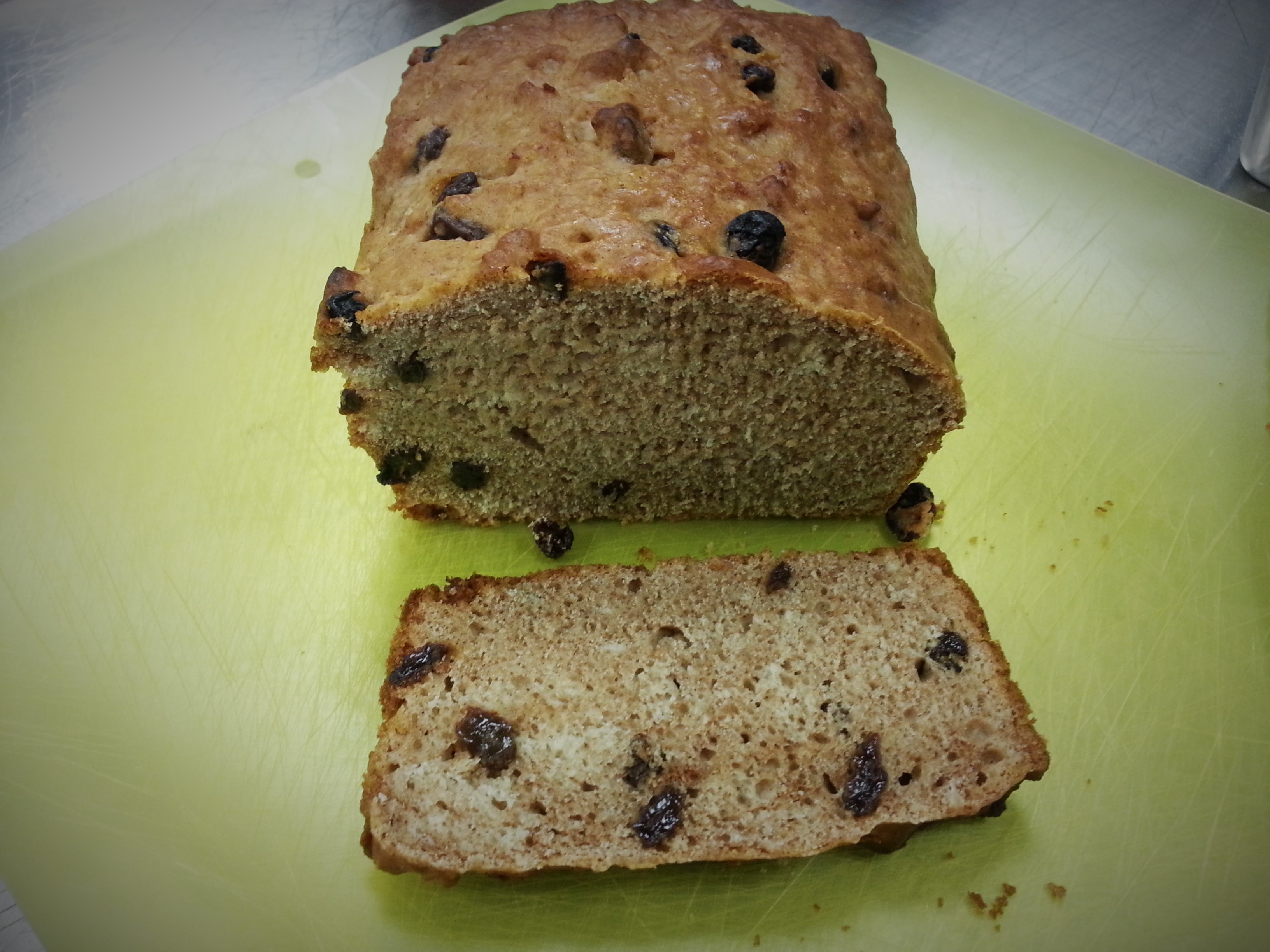 Cinnamon Raisin Beer Batter Bread