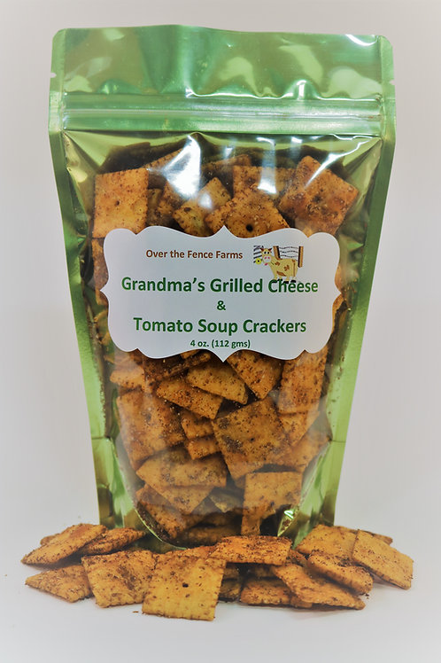 Grandma's Grilled Cheese & Tomato Soup Crackers