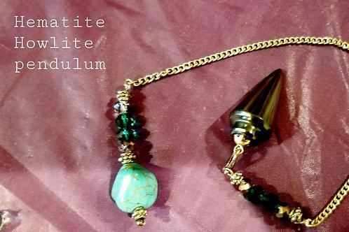 Pendulum - Hematite & Howlite