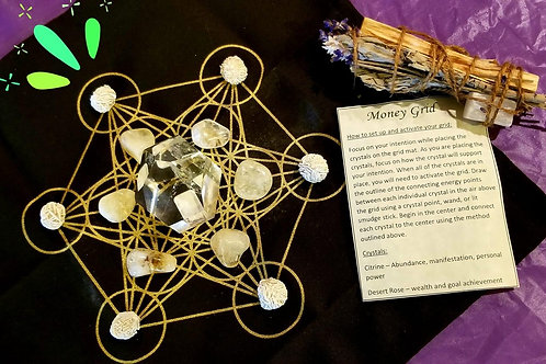 Crystal Grid Kit -Money