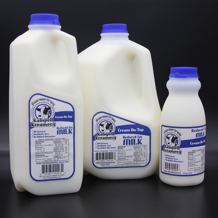 Cream-on-top reduced fat milk