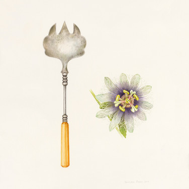Passionflower and serving fork
