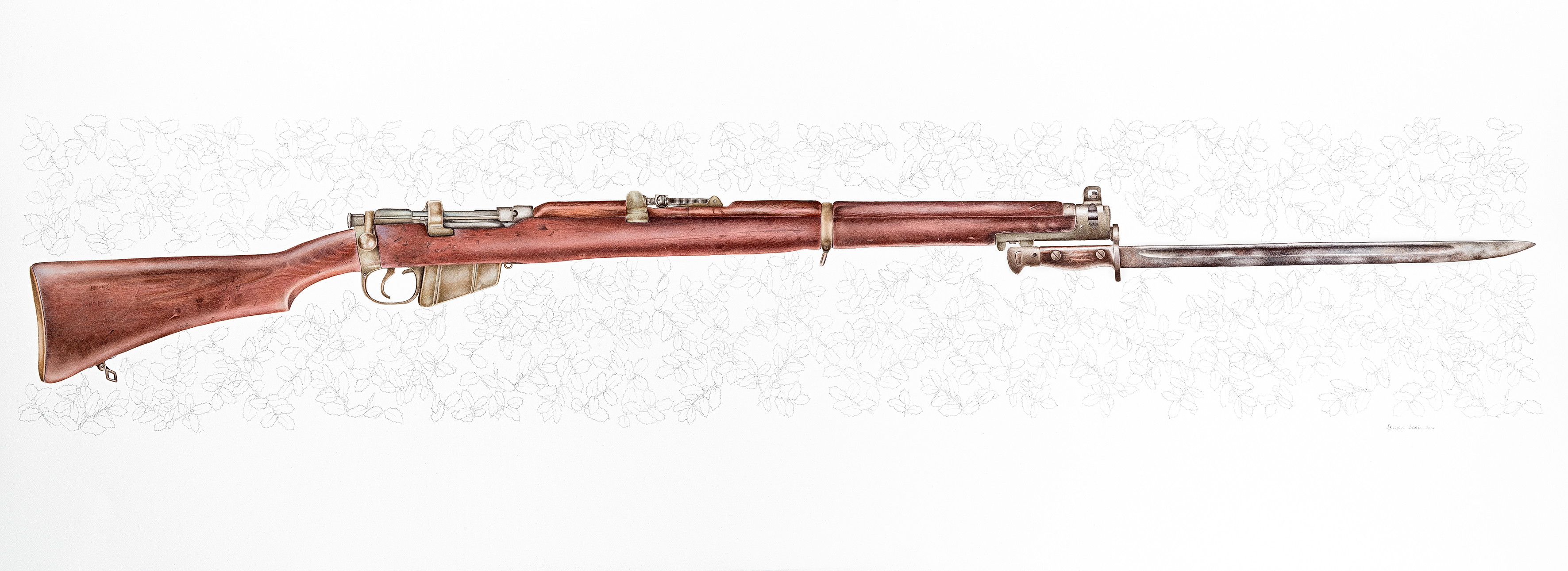 .303 Lee Enfield (holly oak)