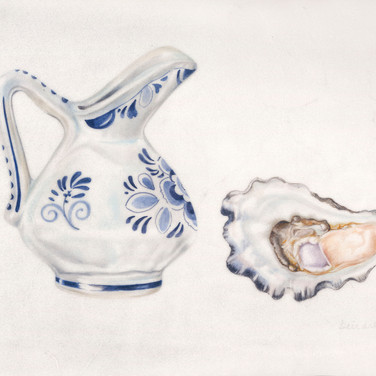 Jug and oyster
