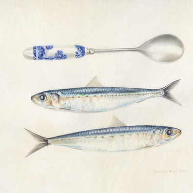 Sardines and spoon