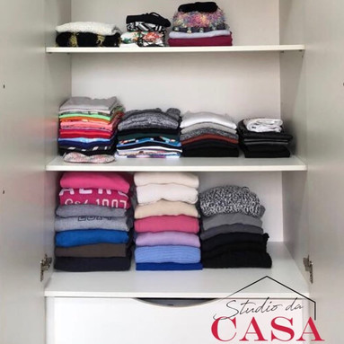 Organização de guarda-roupas